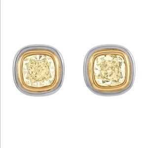 Tiffany & Co Fancy Yellow Diamond Earrings